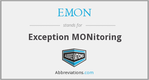 EMON - Exception MONitoring
