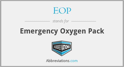 EOP - Emergency Oxygen Pack