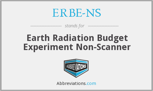 ERBE-NS - Earth Radiation Budget Experiment Non-Scanner