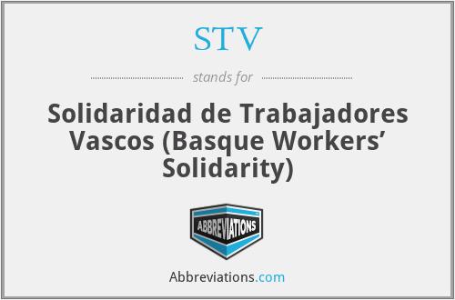 STV - Solidaridad de Trabajadores Vascos (Basque Workers' Solidarity)
