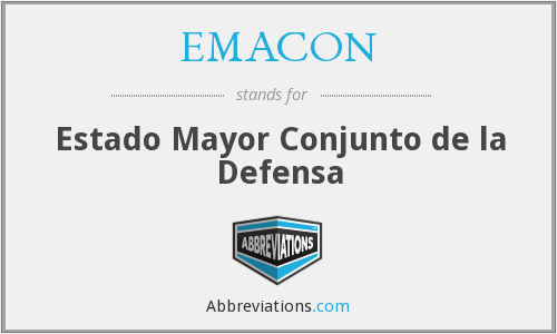 EMACON - Estado Mayor Conjunto de la Defensa
