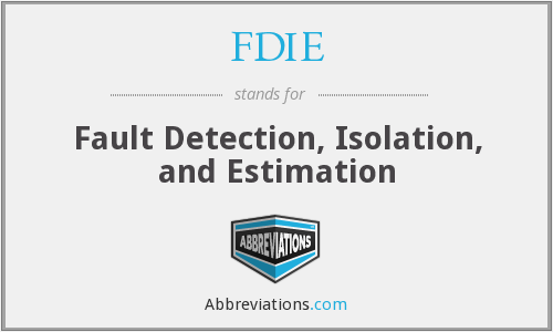 What does FDIE stand for?