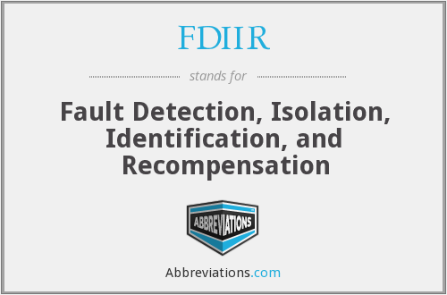 What does FDIIR stand for?