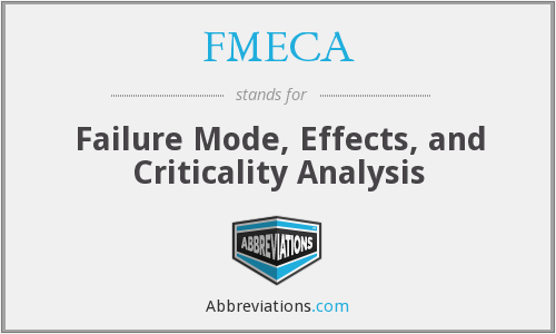 FMECA - Failure Mode, Effects, and Criticality Analysis