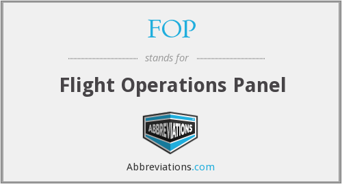 FOP - Flight Operations Panel