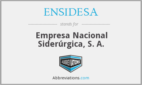 What does ENSIDESA stand for?