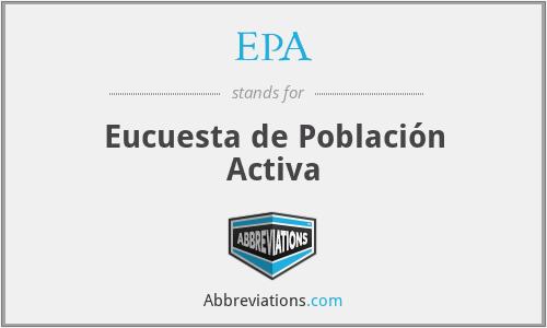 EPA - Eucuesta de Población Activa