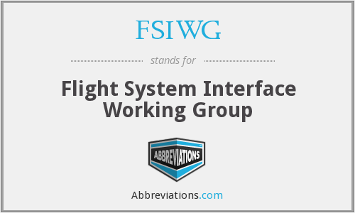 FSIWG - Flight System Interface Working Group