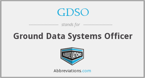 GDSO - Ground Data Systems Officer