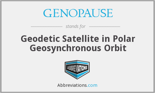 GENOPAUSE - Geodetic Satellite in Polar Geosynchronous Orbit