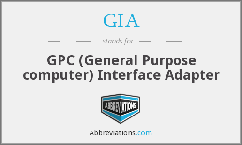 GIA - GPC (General Purpose computer) Interface Adapter