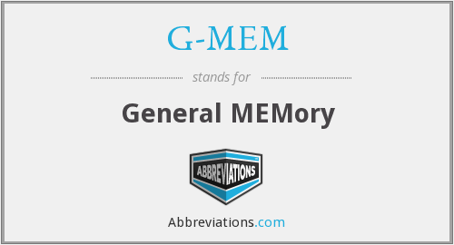 What does G-MEM stand for?