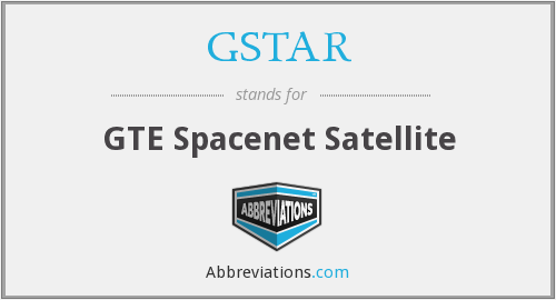 GSTAR - GTE Spacenet Satellite