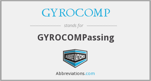 What does GYROCOMP stand for?