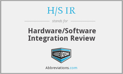 What does H/S IR stand for?