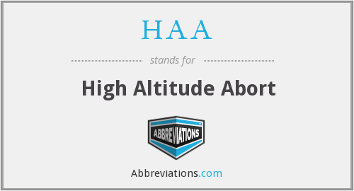 HAA - High Altitude Abort