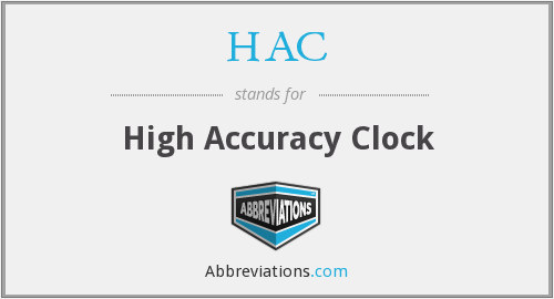 HAC - High Accuracy Clock