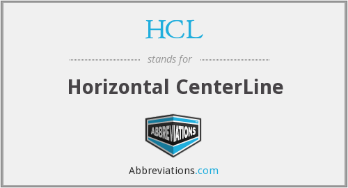 HCL - Horizontal CenterLine