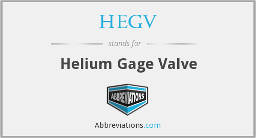What does HEGV stand for?