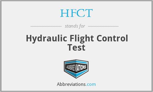 HFCT - Hydraulic Flight Control Test