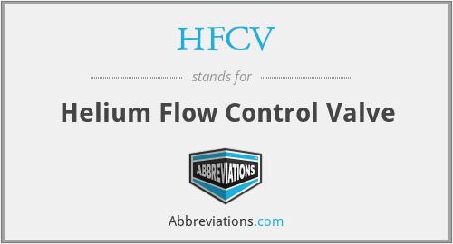 HFCV - Helium Flow Control Valve