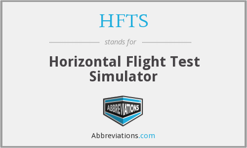 HFTS - Horizontal Flight Test Simulator