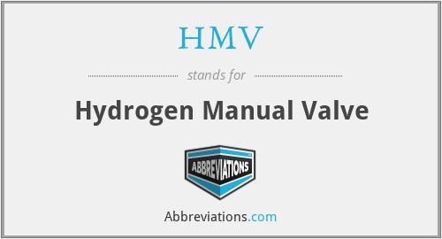 HMV - Hydrogen Manual Valve