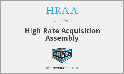 What does HRAA stand for?