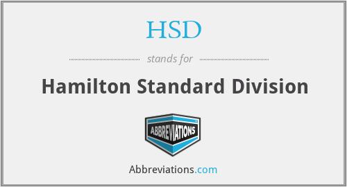 HSD - Hamilton Standard Division