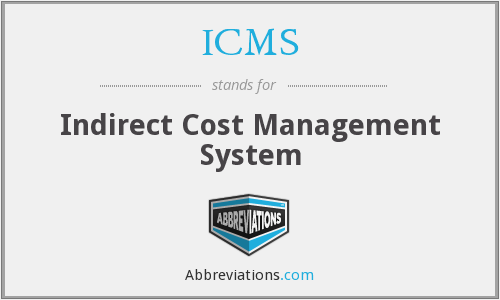ICMS - Indirect Cost Management System
