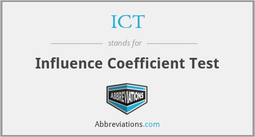 ICT - Influence Coefficient Test