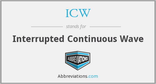 ICW - Interrupted Continuous Wave