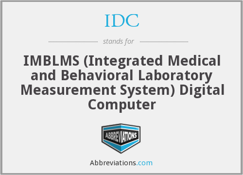 IDC - IMBLMS (Integrated Medical and Behavioral Laboratory Measurement System) Digital Computer
