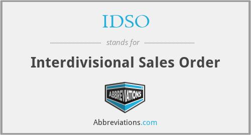 IDSO - Interdivisional Sales Order
