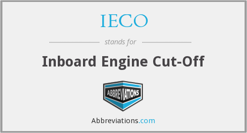 IECO - Inboard Engine Cut-Off