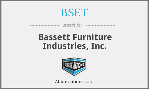 BSET - Bassett Furniture Industries, Inc.