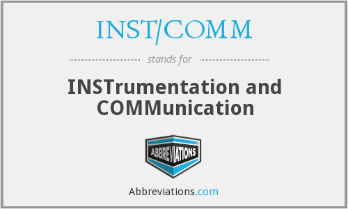 What does INST/COMM stand for?