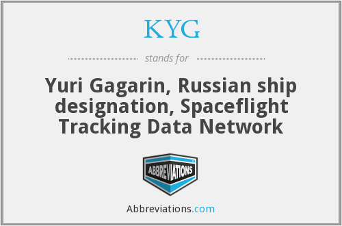 KYG - Yuri Gagarin, Russian ship designation, Spaceflight Tracking Data Network