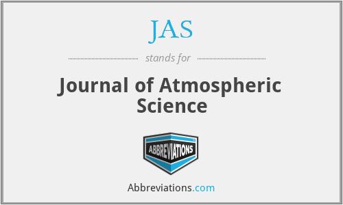 JAS - Journal of Atmospheric Science