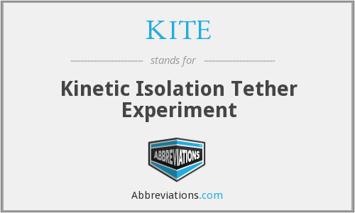 KITE - Kinetic Isolation Tether Experiment