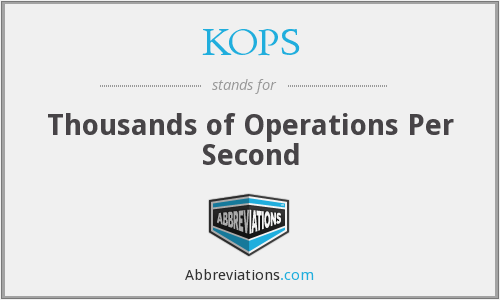 KOPS - Thousands of Operations Per Second