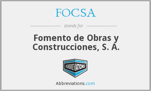 What does FOCSA stand for?