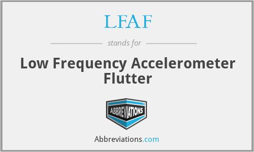 LFAF - Low Frequency Accelerometer Flutter