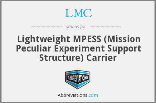 LMC - Lightweight MPESS Carrier