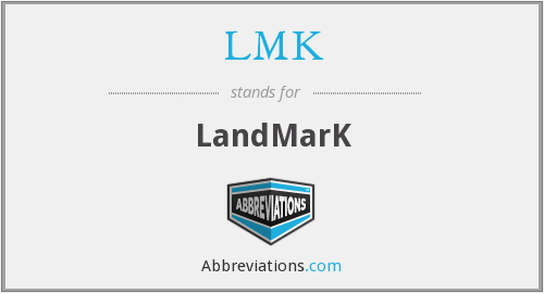 What is the abbreviation for landmark?