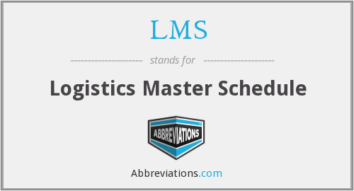 LMS - Logistics Master Schedules