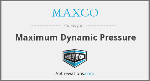 What does MAXCO stand for?