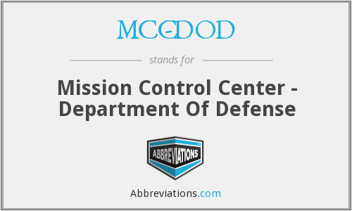 What does MCC-DOD stand for?