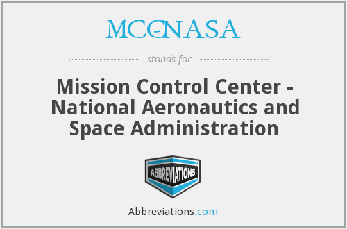 MCC-NASA - Mission Control Center - National Aeronautics and Space Administration