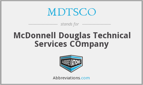What does MDTSCO stand for?